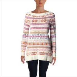 Ralph Lauren Boatneck Tunic Fair Isle Sweater